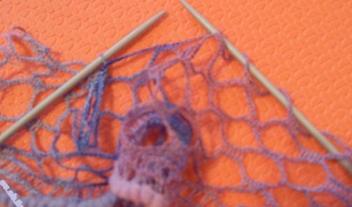 шарф из пряжи ализе дантела спицами